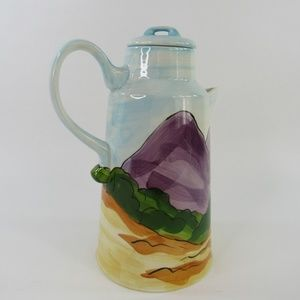 "Handmade Accents - Vintage Ceramic Milk Pitcher Handmade 10"" x 5.5"" H"